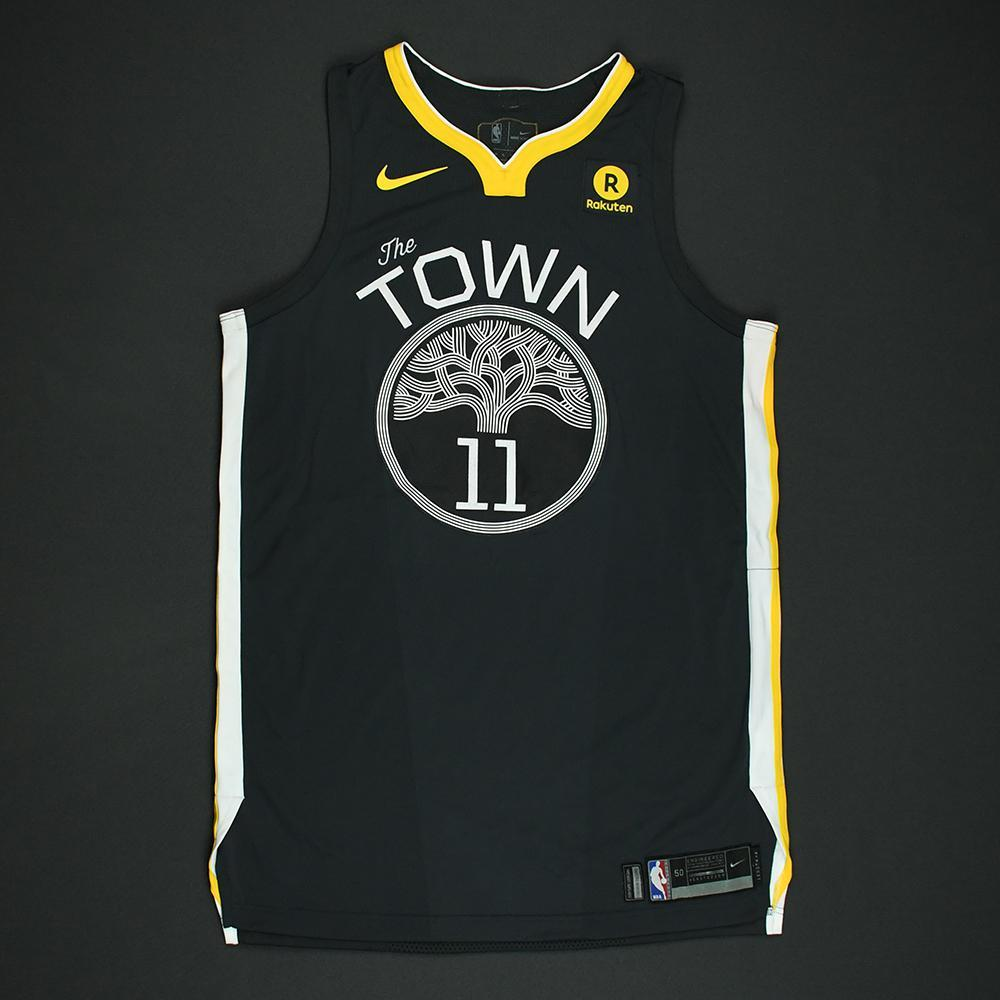 Klay Thompson- Golden State Warriors - 2018 NBA Finals - Game 2 - Game-Worn Gray 'Statement' Jersey - Franchise Record 100th Career Playoff Game