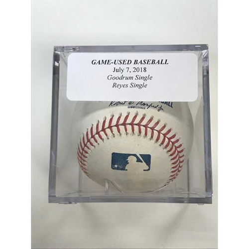 Photo of Game-Used Baseball: Niko Goodrum Single and Victor Reyes Single