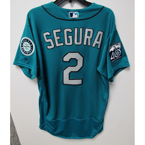 Photo of Jean Segura Game-Used Green Jersey - July 28,2017