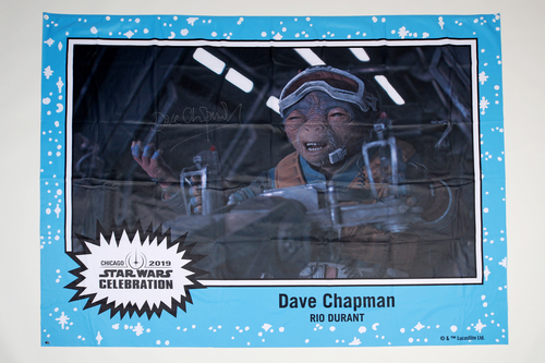 Dave Chapman 5' X 7' Autographed 1-of-1 Banner from 2019 Star Wars Celebration