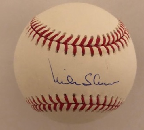 Mike Shannon Autographed Baseball