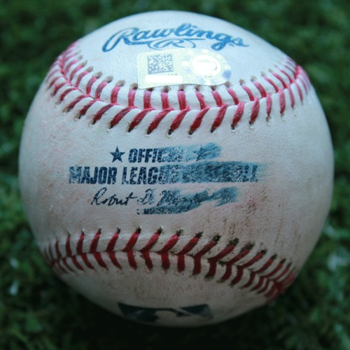 Game-Used Baseball: Cesar Hernandez 678th Career Hit (PHI @ KC - 5/12/19)