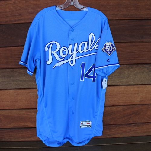 Photo of Game-Used Jersey: Brett Phillips (Size 46 - CLE @ KC - 9/30/18)
