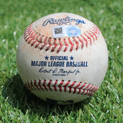 Photo of Game-Used Baseball: Jason Castro 591st Career Hit (MIN @ KC - 6/21/19)
