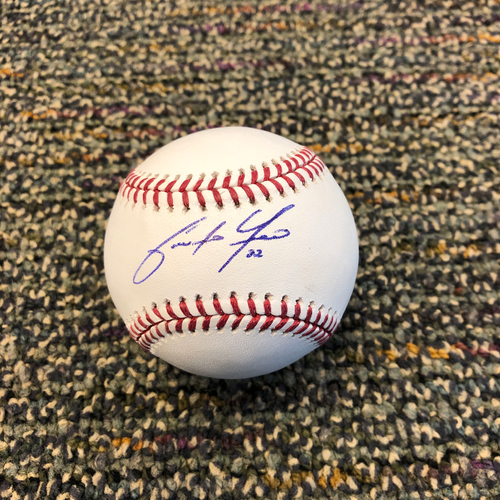 Buster Posey BP28 Foundation - Autographed Baseball signed by Milwaukee Brewers Right Fielder Christian Yelich