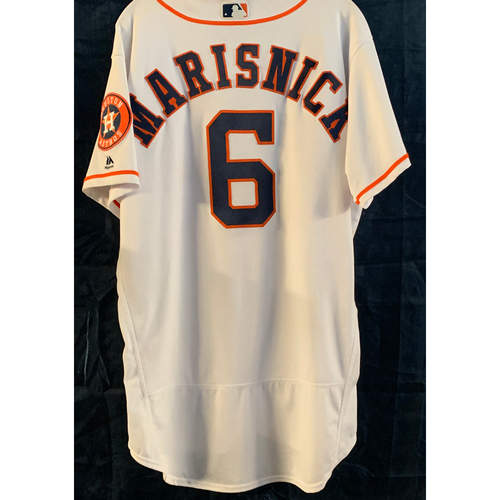 Photo of Jake Marisnick 2019 Game-Used Home White Jersey - Size 46