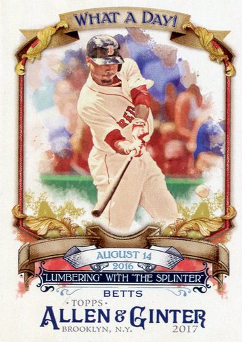 Photo of 2017 Topps Allen and Ginter What a Day #WAD67 Mookie Betts