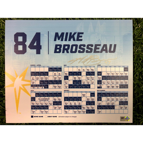 Team Issued Autographed Locker Tag: Michael Brosseau #84