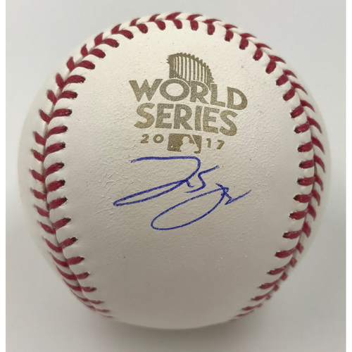Photo of George Springer Autographed 2017 World Series Logo Baseball