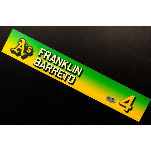 Photo of Team Issued 2020 Locker Nameplate - Franklin Barreto