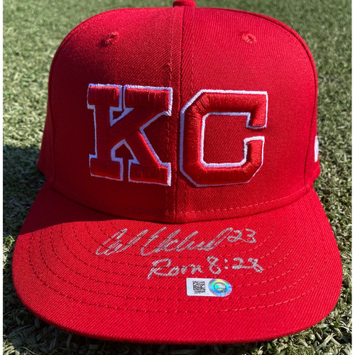 Photo of Autographed/Team-Issued Monarchs Hat: Cal Eldred #23 (STL @ KC 9/22/20) - Size 7 1/4