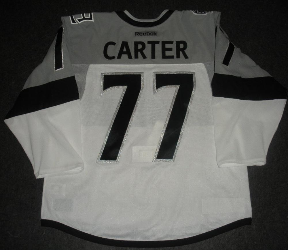 0c02c031d ... sale jeff carter los angeles kings 2015 nhl stadium series game worn  jersey worn in first ...