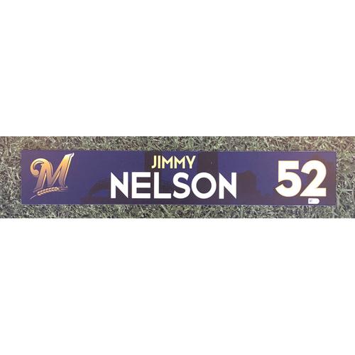 Photo of Jimmy Nelson 2018 Team-Issued Locker Nameplate