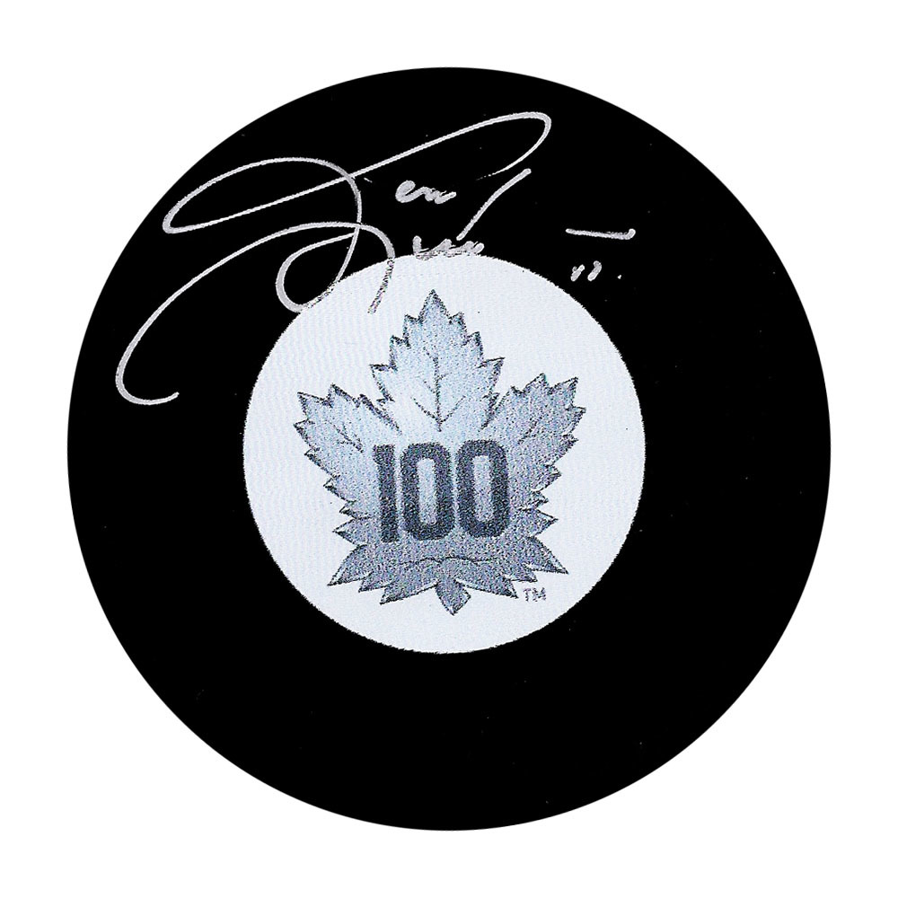 Gary Leeman Autographed Toronto Maple Leafs Centennial Puck