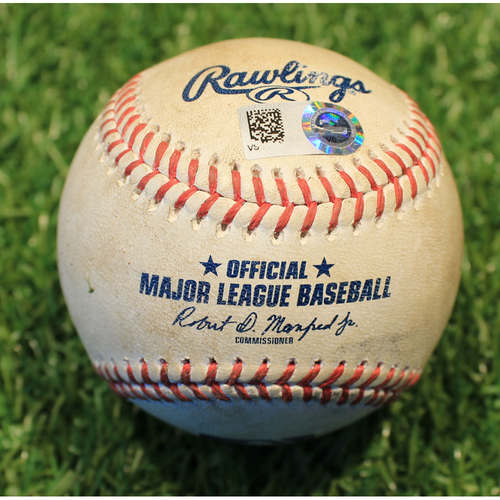 Photo of Game-Used Baseball: Vladimir Guerrero Jr. 204th Career Hit & Randal Grichuk 634th Career Hit (TOR @ KC 4/17/21 Game 1)