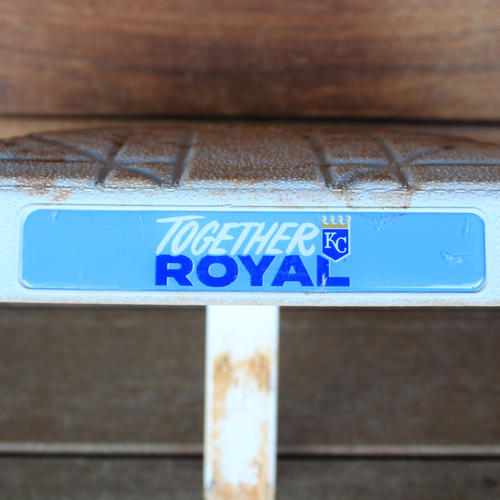 Photo of Game-Used 1st Base; Innings 1-5: Salvador Perez Ties Royals Single Season Home Run Record (CLE@KC 9/29/21)