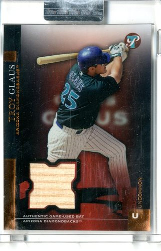 Photo of 2005 Topps Pristine Uncirculated Bronze #138 Troy Glaus Bat