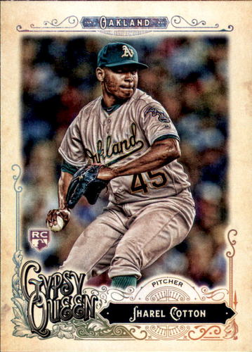 Photo of 2017 Topps Gypsy Queen #203 Jharel Cotton RC
