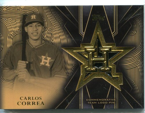 Photo of 2016 Topps Team Logo Pins  Carlos Correa