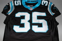 CRUCIAL CATCH - PANTHERS MIKE TOLBERT GAME WORN PANTHERS JERSEY (2016)