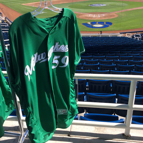 Photo of Pat Murphy 2018 Team-Issued St. Patrick's Day Jersey