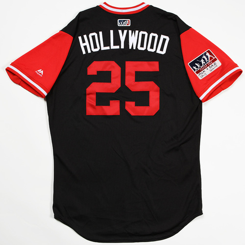 "Photo of Archie ""Hollywood"" Bradley Arizona Diamondbacks Game-Used Players' Weekend Jersey"