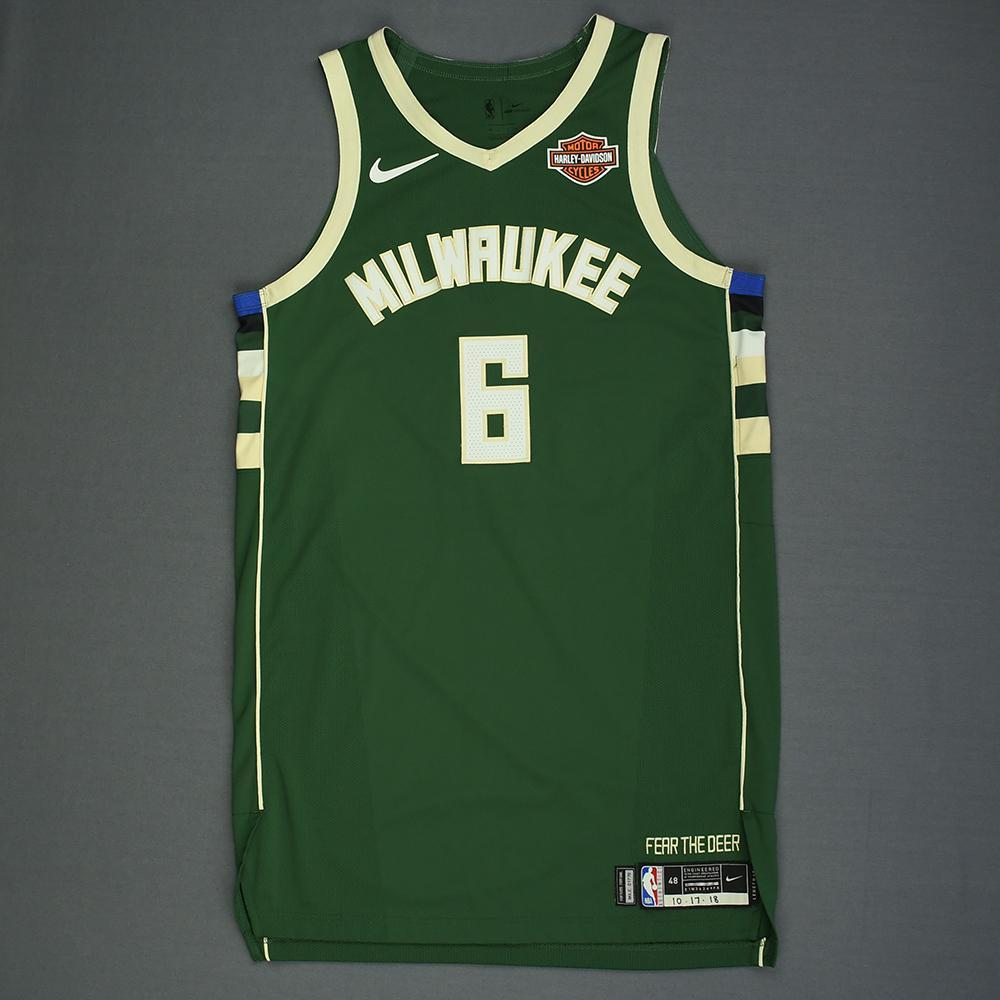 Eric Bledsoe - Milwaukee Bucks - Kia NBA Tip-Off 2018 - Game-Worn Icon Edition Jersey