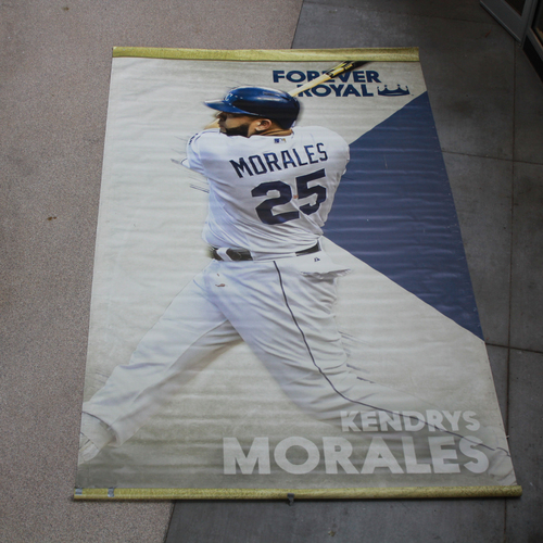 Photo of Extra Large Team-Issued Banner: Kendrys Morales Forever Royal