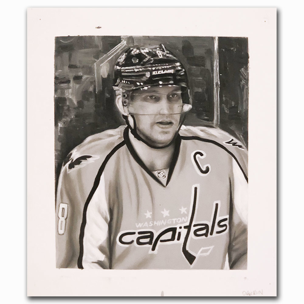 Alex Ovechkin Upper Deck Trading Card Original Artwork - Limited Edition 1/1