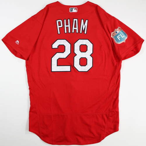 Photo of 2016  Spring Training -  Game-Used Jersey - Tommy Pham (Cardinals) - Size 46