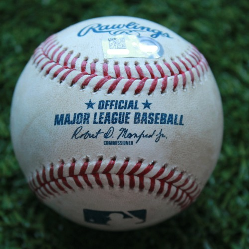 Game-Used Baseball: Rhys Hoskins 221st Career Hit (PHI @ KC - 5/12/19)
