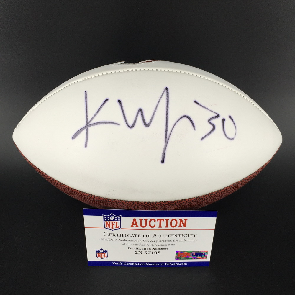 Texans - Kevin Johnson Signed Panel ball with Texans logo