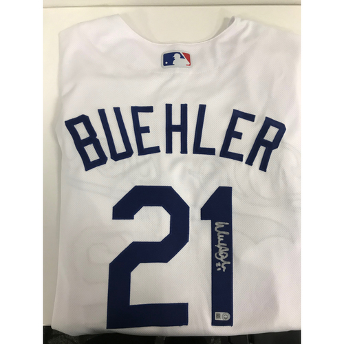 Photo of Autographed Walker Buehler Jersey