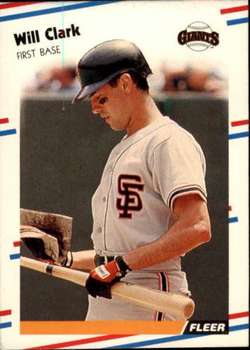 Photo of 1988 Fleer #78 Will Clark