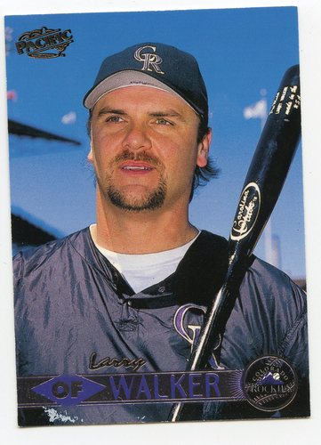 Photo of 1999 Pacific #154A Larry Walker Headshot