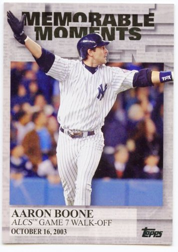 Photo of 2017 Topps Memorable Moments #MM10 Aaron Boone
