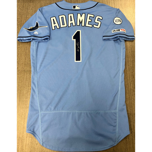 Photo of Team Issued Autographed Jersey: Willy Adames