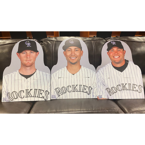Photo of Colorado Rockies Foundation: NL Batting Title Cutout Set- DJ LeMahieu, Carlos Gonzalez, and Matt Holliday