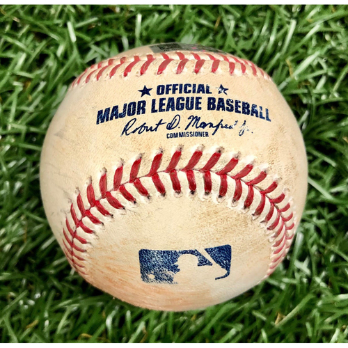 Photo of Game Used Baseball: Kevin Pillar Strikeout, Rafael Devers Strikeout and J.D. Martinez Double off Ryan Yarbrough - August 5, 2020 v BOS