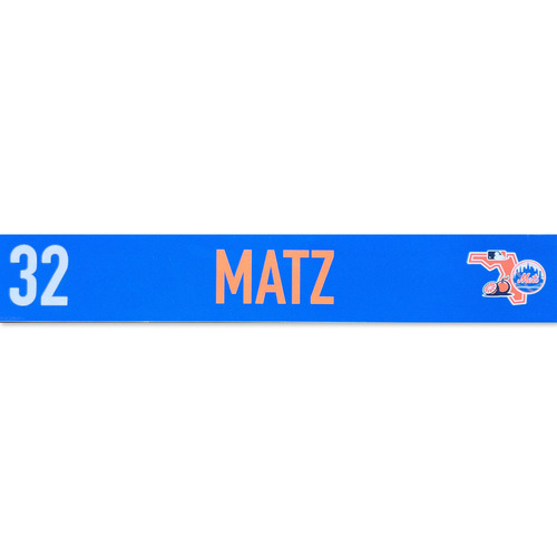 Photo of Steven Matz #32 - Game Used Locker Nameplate - 2020 Spring Training - Mets vs. Cardinals - 2/23/20