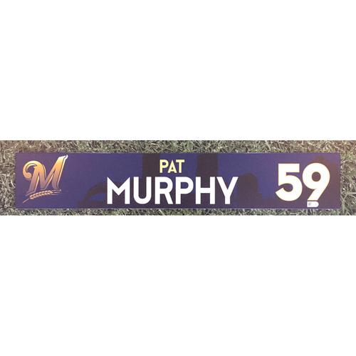 Photo of Pat Murphy 2018 Team-Issued Locker Nameplate
