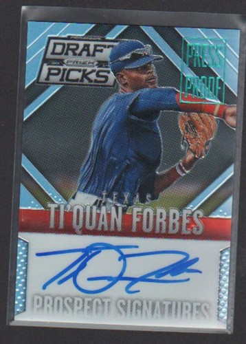 Photo of 2014 Panini Prizm Perennial Draft Picks Prospect Signatures Prizms Press Proof #59 Ti'Quan Forbes
