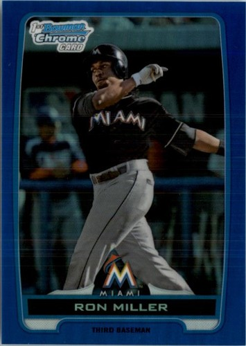 Photo of 2012 Bowman Chrome Draft Draft Picks Blue Refractors #BDPP75 Ron Miller