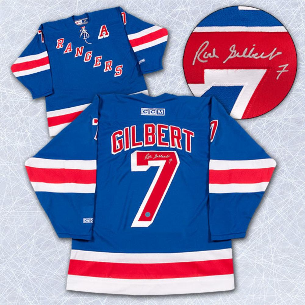 Rod Gilbert New York Rangers Autographed Retro CCM Vintage Hockey Jersey