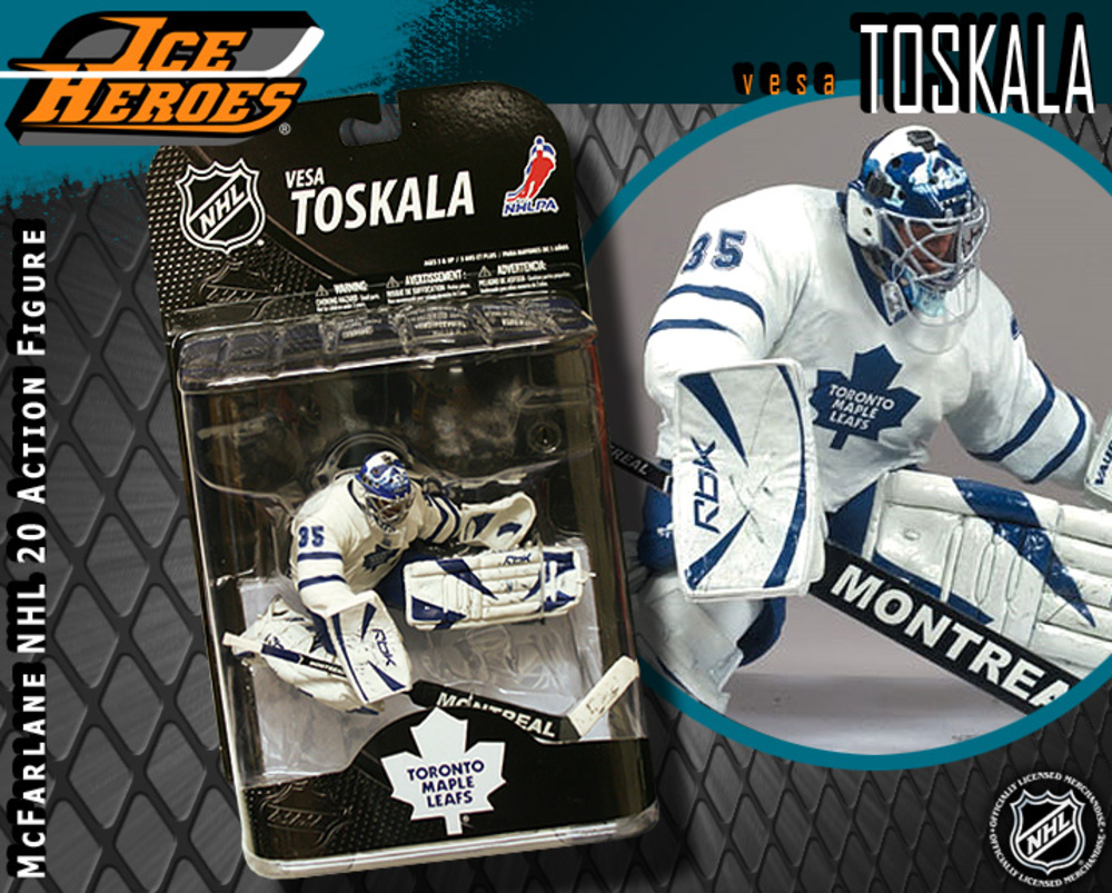 VESA TOSKALA McFarlane Series 20 Action Figure - MIB - Toronto Maple Leafs