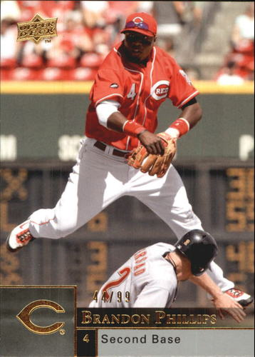 Photo of 2009 Upper Deck Gold #601 Brandon Phillips /99
