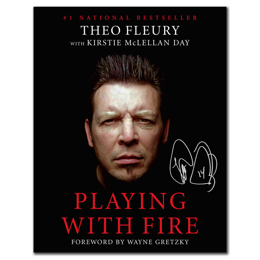 Theo Fleury Playing With Fire Bookcover 11x14