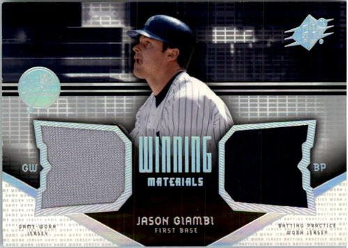Photo of 2004 SPx Winning Materials Dual Jersey #JG Jason Giambi