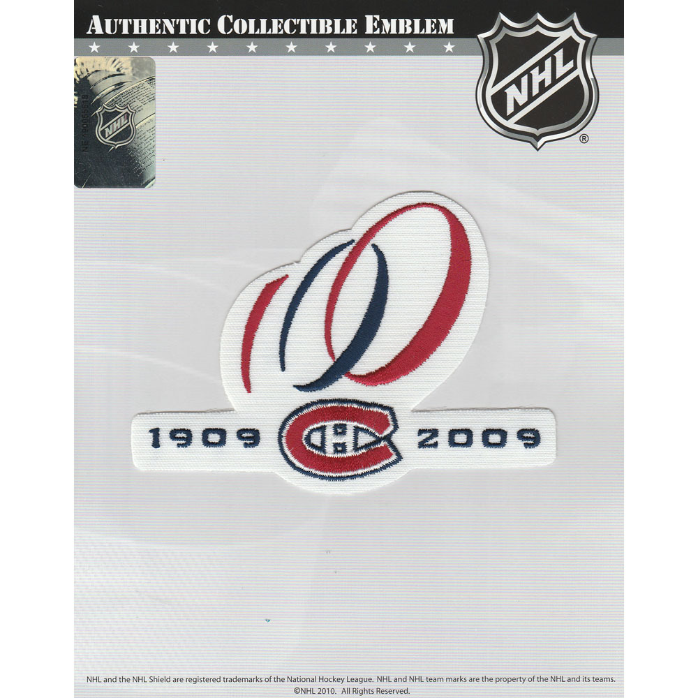 Montreal Canadiens 100th Anniversary Jersey Patch