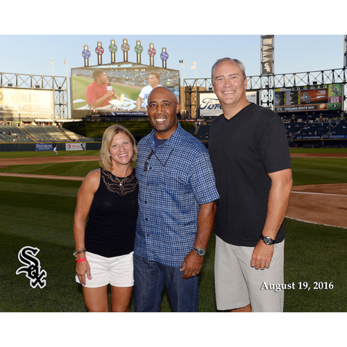 On-Field, Pre-Game Photo with Harold Baines